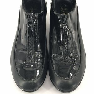 Cole Haan Black Patent Leather Loafers SZ 10